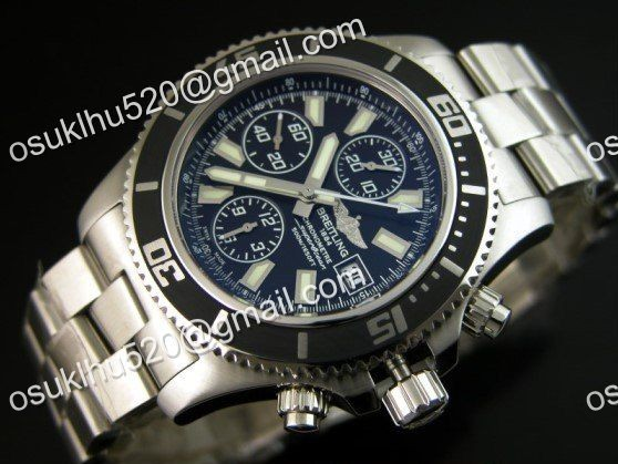 Breitling Superocean chronograph II 44 Stahl Armband a-7750 Schwarz