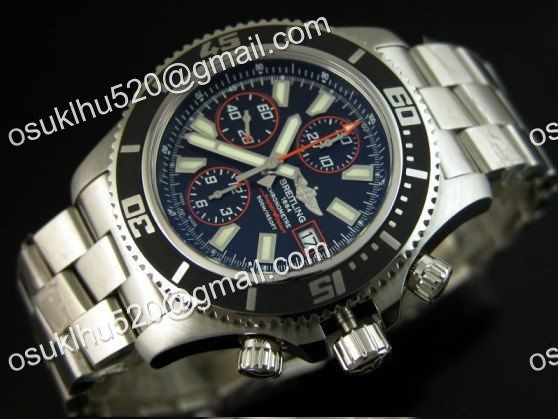 Breitling Superocean chronograph II Rot Version 44 Stahl Armband