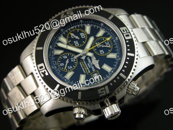 Breitling Superocean chronograph II gelb Version 44 Stahl Armband