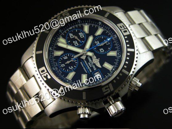 Breitling Superocean chronograph II blaue Version 44 Stahl Armband