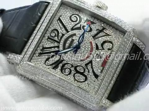 FRANCK MULLER KING CONQUISTADOR stainless steel FULL BLING BLING