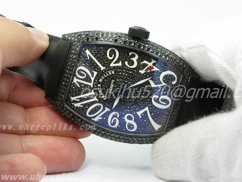FRANCK MULLER CASABLANCA PVD BLACK FULL BLING BLING WATCH