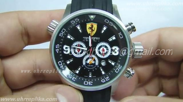 FERRARI CHRONO RACING BORRACHA schwarzes Zifferblatt