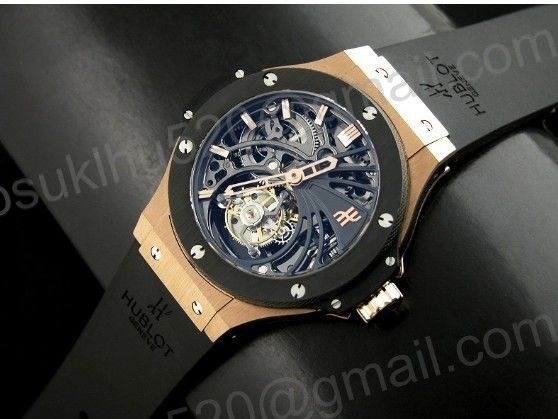 Big Bang Skeleton Tourbillon 44MM Rosegold / Keramik Herren Uhr