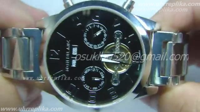 MONT BLANC TIME WALKER Replica MODELO COM TURBILLION APARENTE