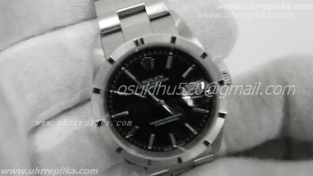 Rolex dayjust black dial stick marker