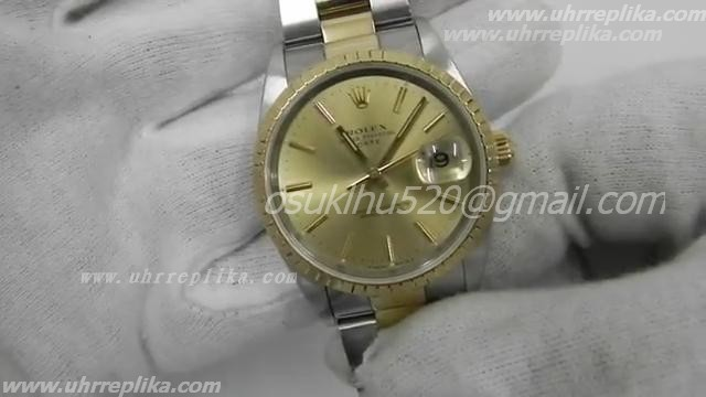 Rolex dayjust replica yellow gold stick marker