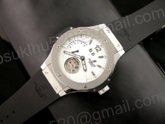 hublot big bang Stahl tourbillon weiß groß Date Automatic