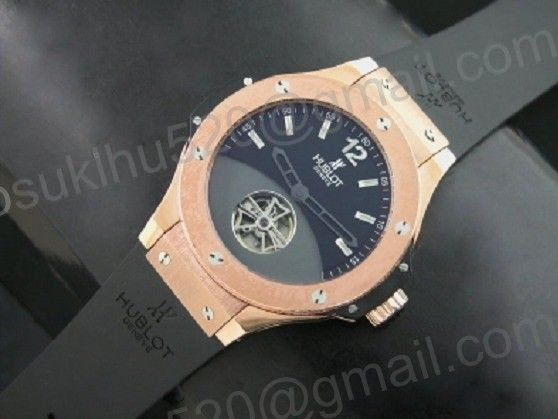 Hublot Solo Bang tourbillon Rosegold Limited Edition schwarz Ziffer