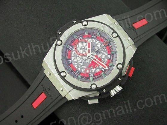 Hublot King Power Manchester United Red Devil Stahl/Gummi Automatic
