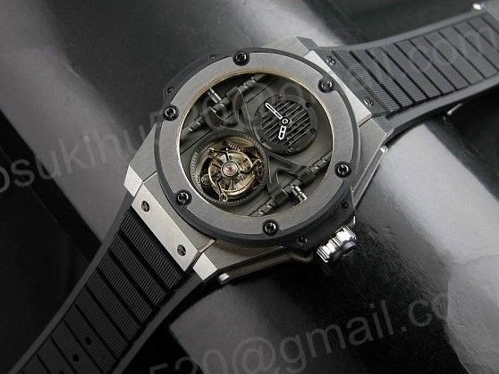 Hublot King Power Flying Tourbillon Manufacture große Uhr Stainle Stahl