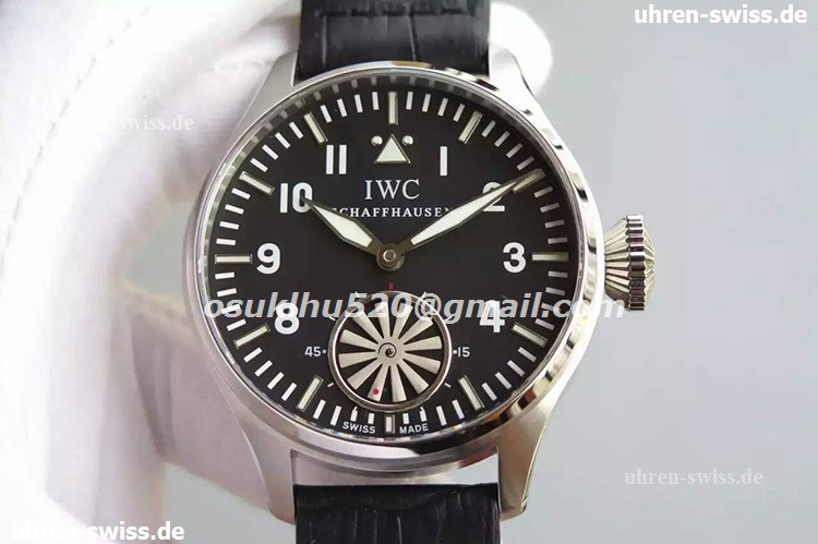 iwc replica watches Big Pilot Stahl herren Auto Schwarzes