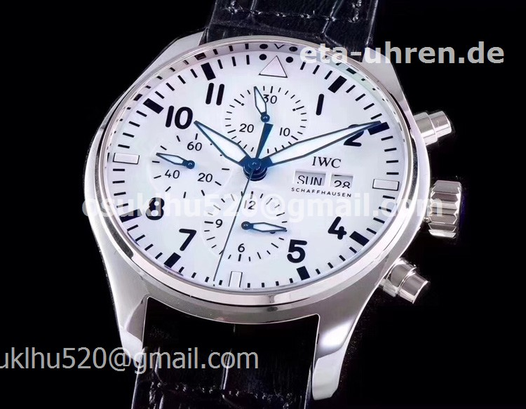 "IWC Pilot's Watch Chronograph Edition ""150 Years"" White dial"