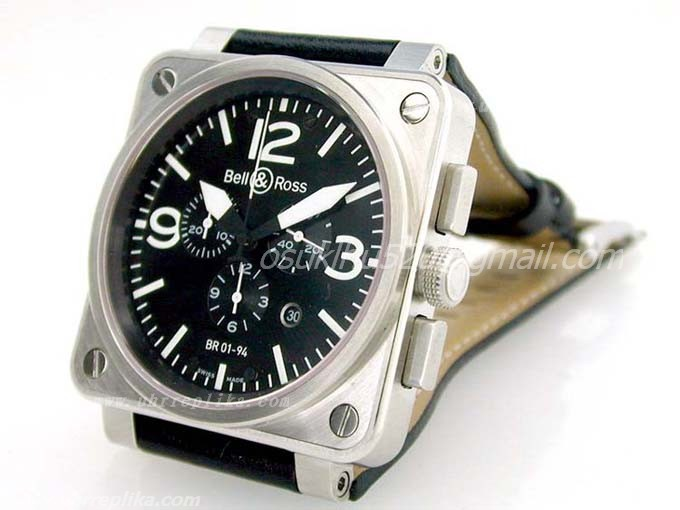Bell & Ross BR 01-94 replica Chrono stahl Black Swiss