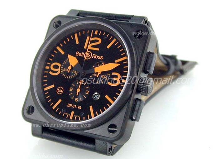Fakes uhren Bell & Ross BR 01-94 Chrono PVD Black Orange