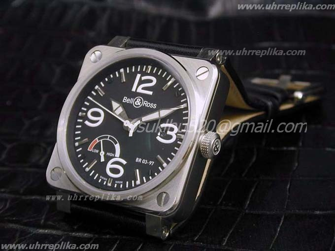 Bell & Ross BR 03-97 replica Power Reserve Black
