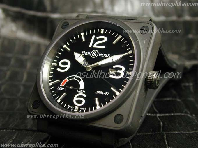 Bell & Ross BR 01-97 replica Power Reserve PVD Black