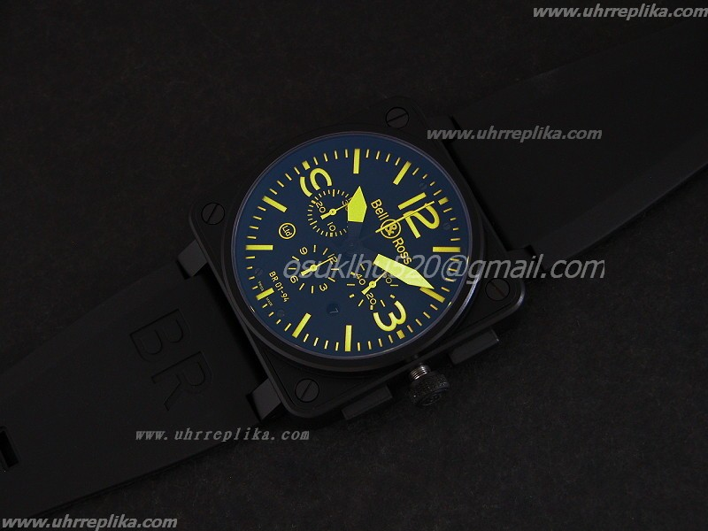 bell & ross 01-94 instrument chrono yellow br01-94-cablk