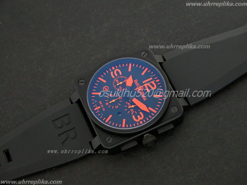 bell & ross 01-94 replica uhren CHONO PVD black orange