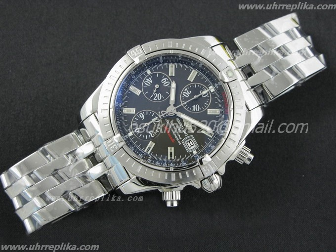 breitling imitation Chronomat Evolution Ultimate Edition Graphite Dial