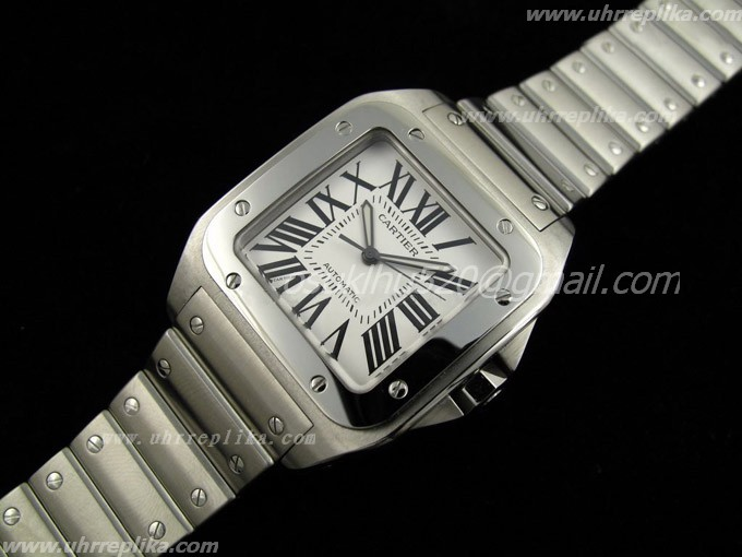 Cartier replica men Santos-100 Bracelet 2009 ETA2824