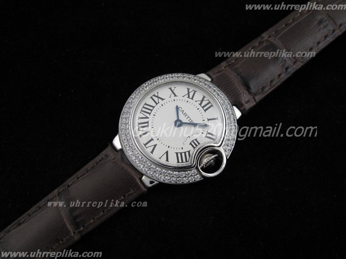 Cartier replica uhren women Ballon Bleu Ladies Lederarmband