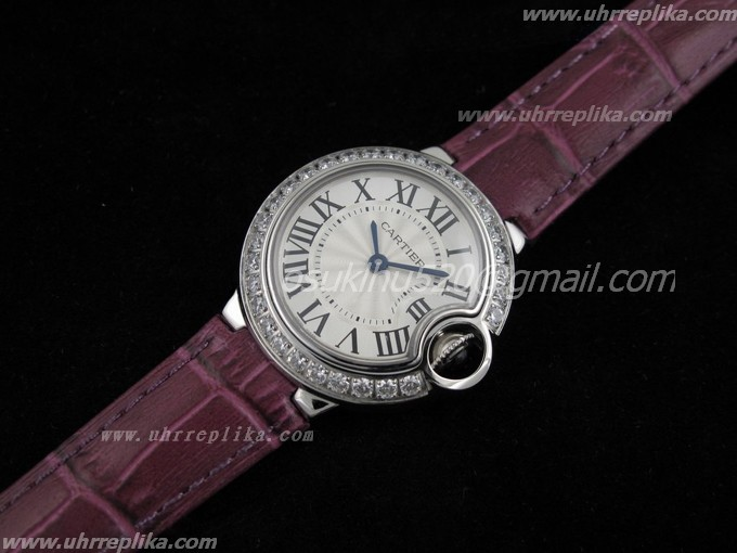 Cartier Ballon Bleu replica Ladies Purple Lederarmband