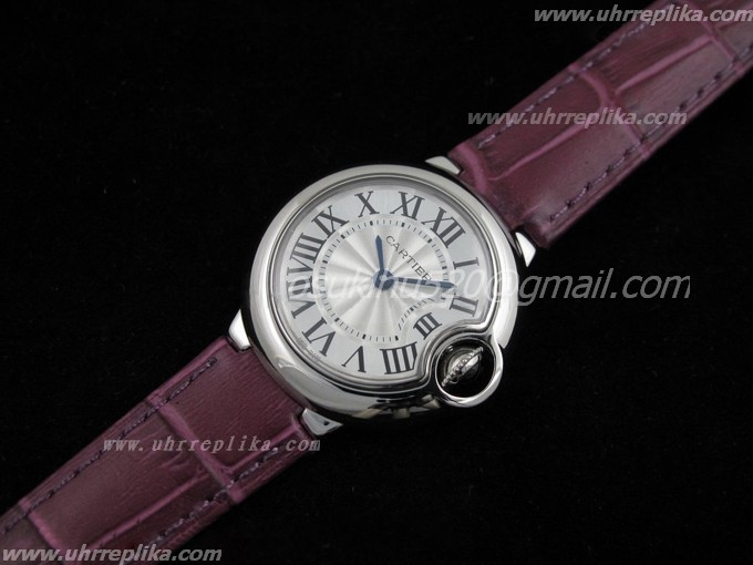 Cartier quartz Ballon Bleu Ladies Lederarmband