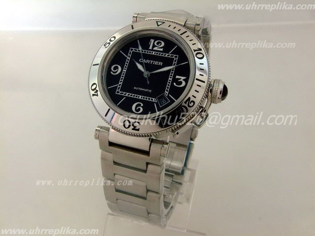 Cartier SeaTimer replica Black stainless-steel