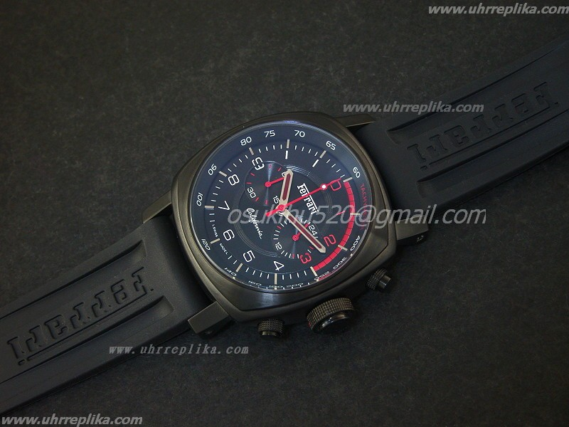 replica ferrari uhren California Mens PVD Quartz Red Sticker