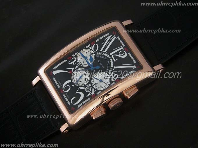 franck muller master banker replica Mens 36mm RG Black
