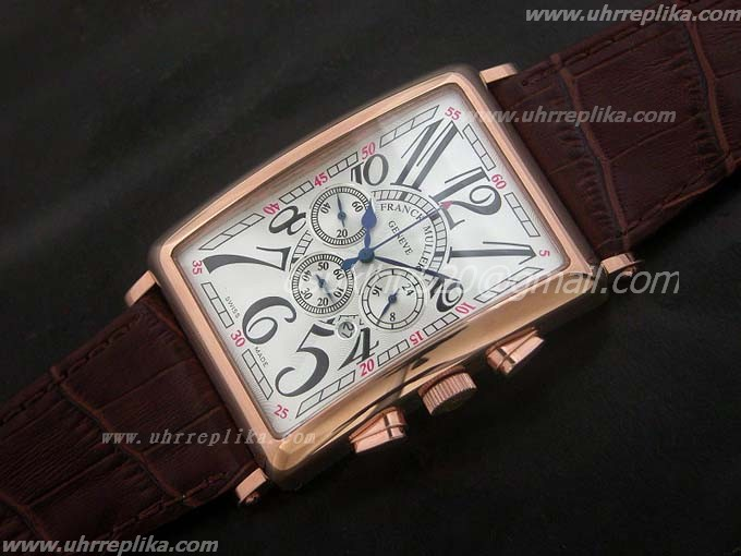 FRANCK MULLER Master Banker replica Mens 39mm Gold Quartz White