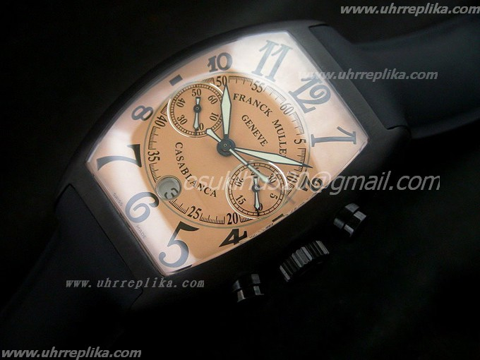 franck muller casablanca replica PVD Mens Chrono Orange