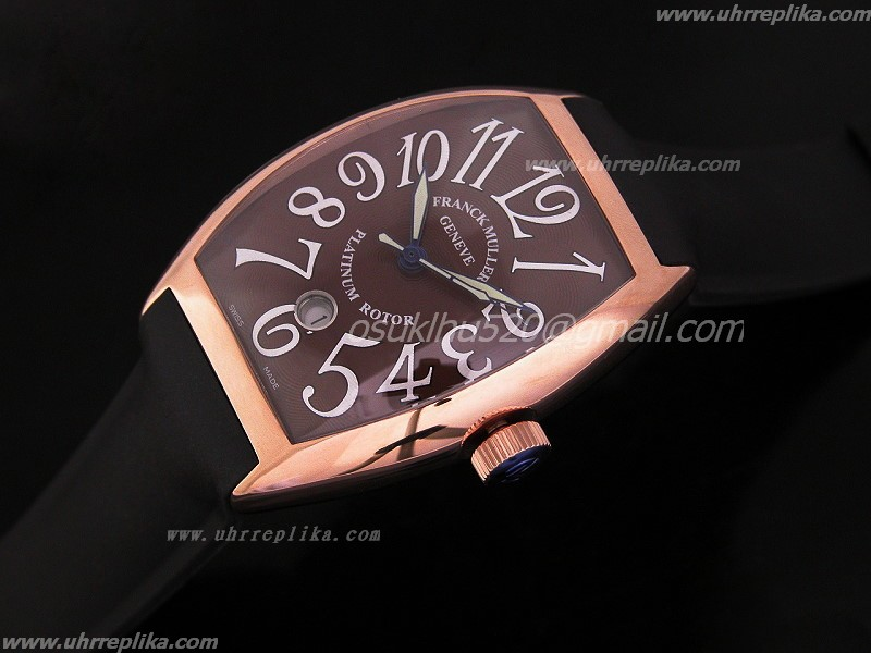 FM replica uhren Platinum Rotor Rose Gold Automatic Swiss ETA 2824