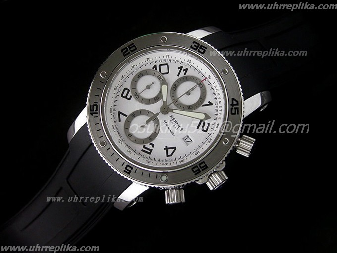 Hermes Clipper imitate Chrono Asia White