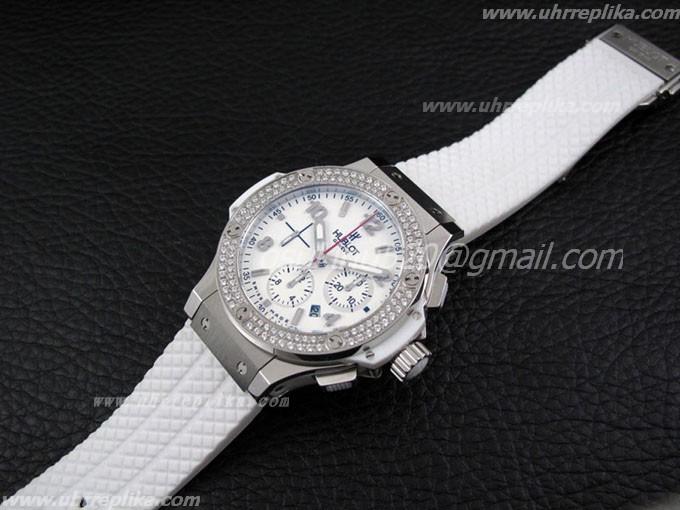 Replica Weiss Diamanten Hublot Bang Big YH2DIWE9