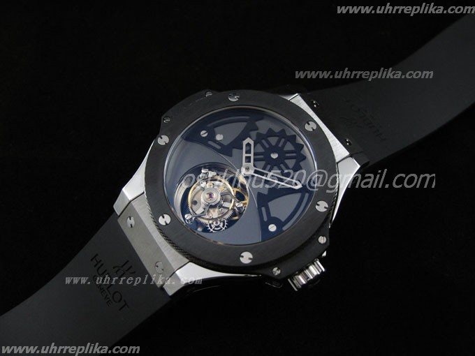 hublot tourbillon replica Solo Bat Bang Voll schwarzes Ceramic