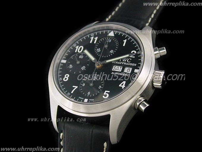 fake iwc watches Pilot FliegerGraph schwarzes