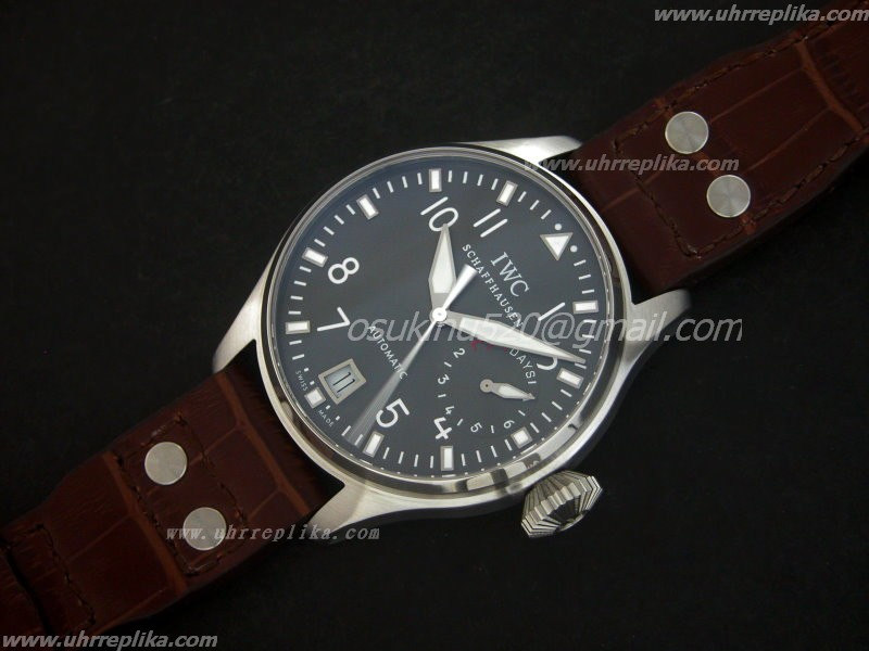 iwc replica watches Classic Big Pilot Stahl schwarzes herren