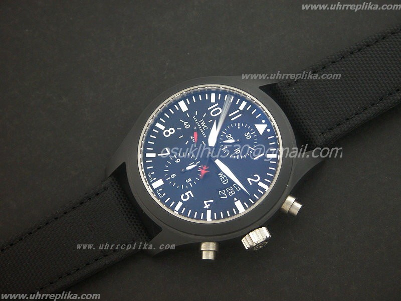 replica iwc top gun Chrono Voll Ceramic Valjoux