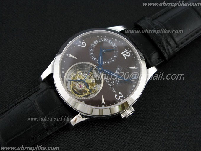 jaeger lecoultre replica Master Tourbillon Power Reserve Brown