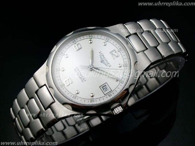 longines conquest automatic stahl men Weiss ETA