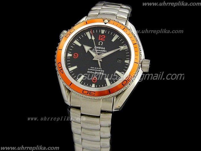 omega replica paypal Seamaster Planet Ocean Orange Eta 2824-2