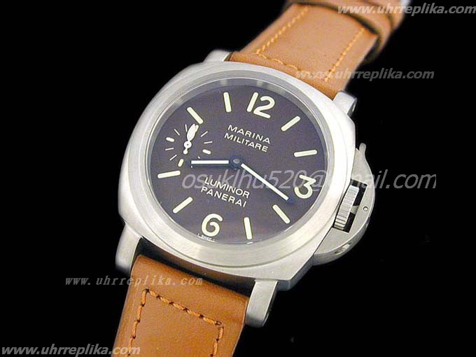 panerai luminor marina replica Tobacco Dial Swiss Unitas 6497
