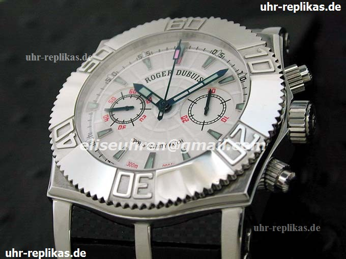 roger dubuis replica uhren Chronograph Weiss Manual