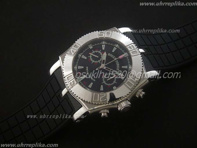roger dubuis replica uhren Chronograph schwarzes Manual