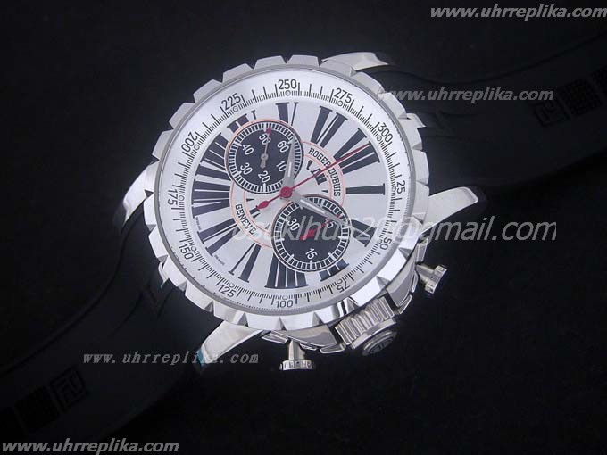 roger dubuis replica uhren Excalibur Chrono Manual Weiss