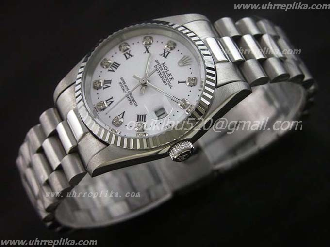 Rolex DateJust fake uhren diamanten Roman Numerals 36mm