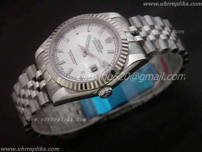 rolex DateJust replika watches weiß stick Weiß 36mm