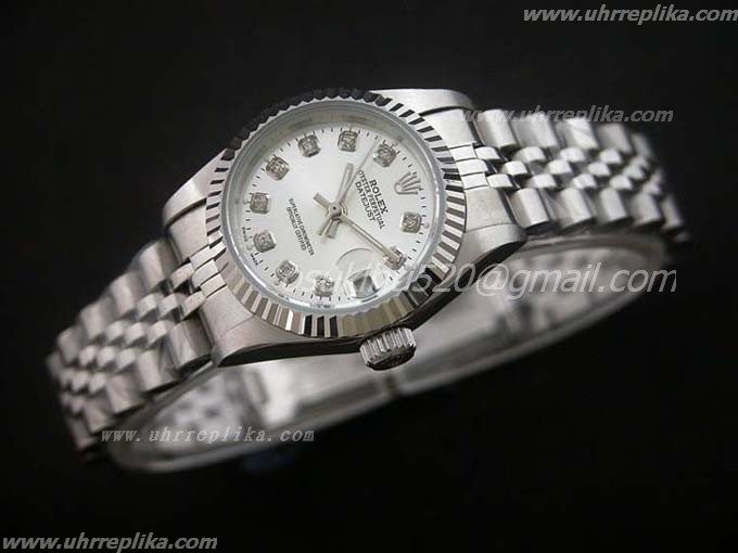 rolex replica DateJust silver diamanten President damen 26mm